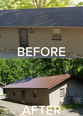 Many of our cabins needed a facelift
